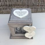 Shabby Chic PERSONALISED Rustic Wood Special Best Friend ANY NAME Photo Cube - 332870607783